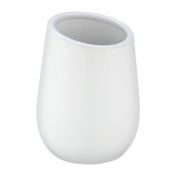 Biały ceramiczny kubek na szczoteczki Wenko Badi