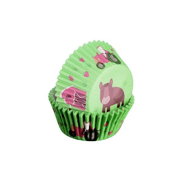 Sada 75 formiček na cupcakes Farma