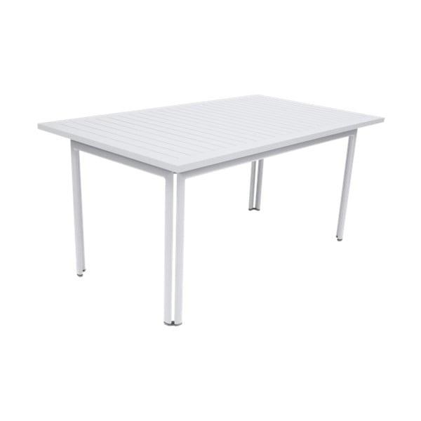 Biely záhradný kovový jedálenský stôl Fermob Costa, 160×80 cm