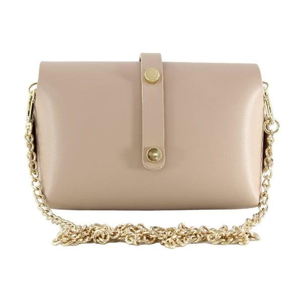 Kožená kabelka přes rameno Slaygie, růžová