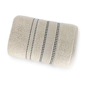 Krémově bílá osuška ze 100% bavlny Marie Lou Remix, 150 x 90 cm