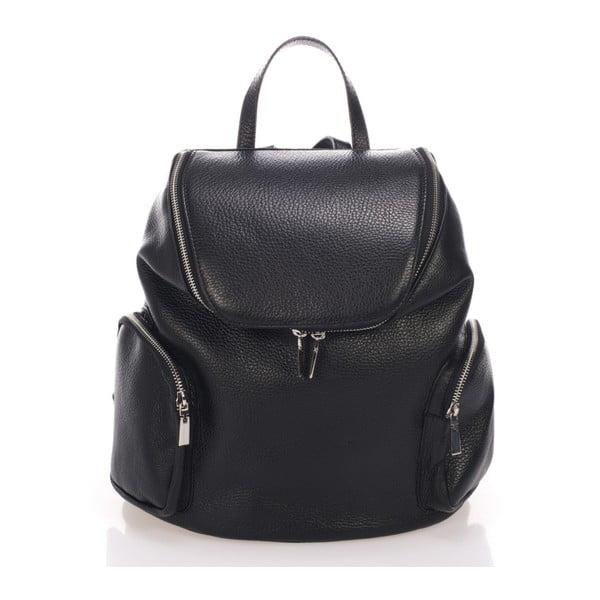 Czarny plecak skórzany Lisa Minardi Mardi