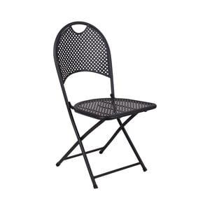 Sada 2 černých skládacích kovových židlí Crido Consulting Iron