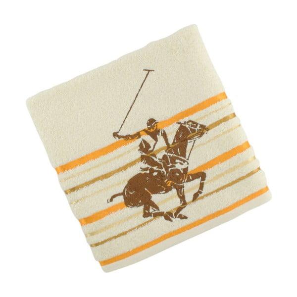 Krémovo-žlutý bavlněný ručník BHPC Velvet, 50x100 cm