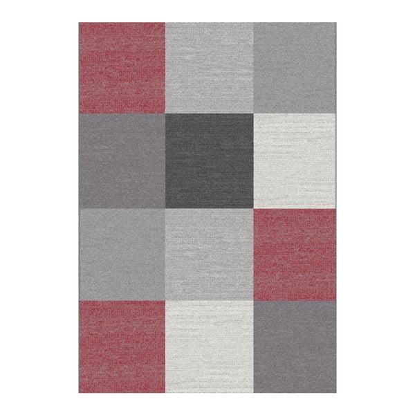 Šedý koberec Universal Menfis Cuadro, 80x150cm