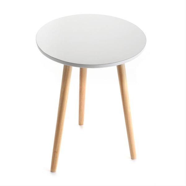 Bílý odkládací stolek Versa Auxiliary, Ø38cm