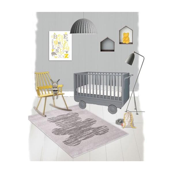 Dětský šedý koberec Nattiot Teddy,120x170cm
