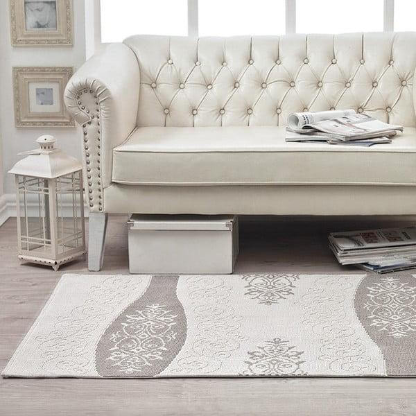 Bavlněný koberec Cream Floral, 120x180 cm