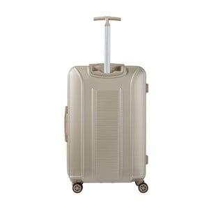 Béžový kufr na kolečkách Murano, 75 x 46 cm