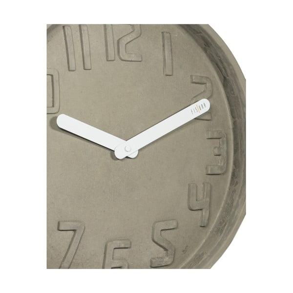 Hodiny Fisura Concrete Blanca, 35 cm