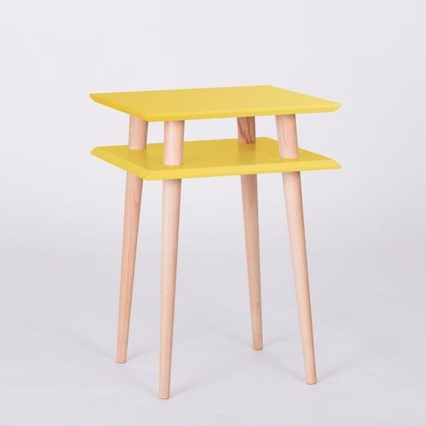 Konferenční stolek UFO Square Yellow, 43cm (šířka) a 61cm (výška)