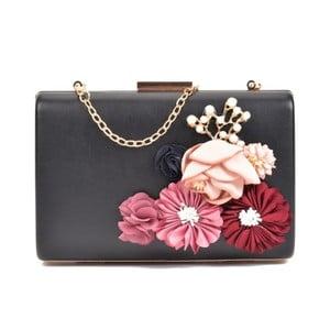 Černé psaníčko s růžovými květy Sofia Cardoni