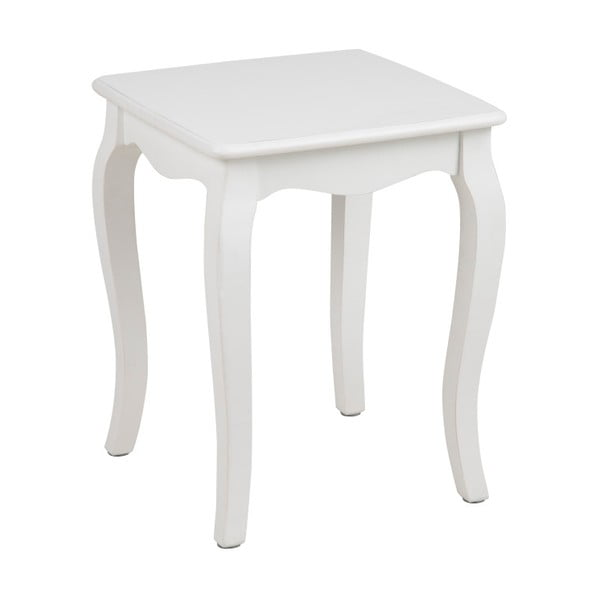Bílý odkládací stolek Actona Carikko