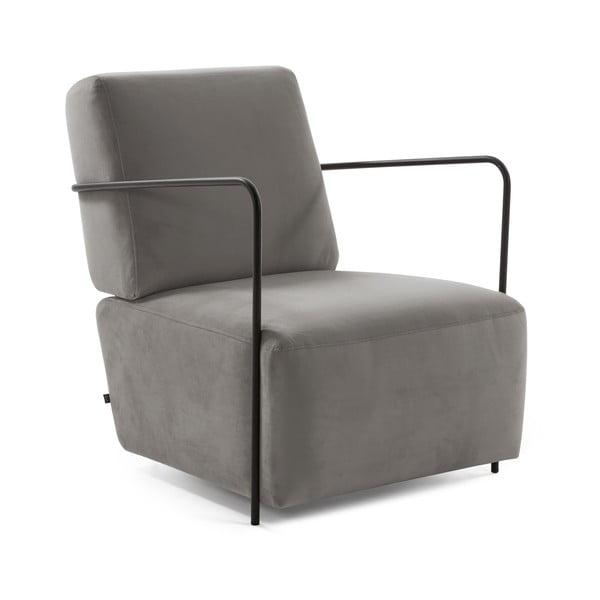 Gamer szürke bársony fotel - La Forma