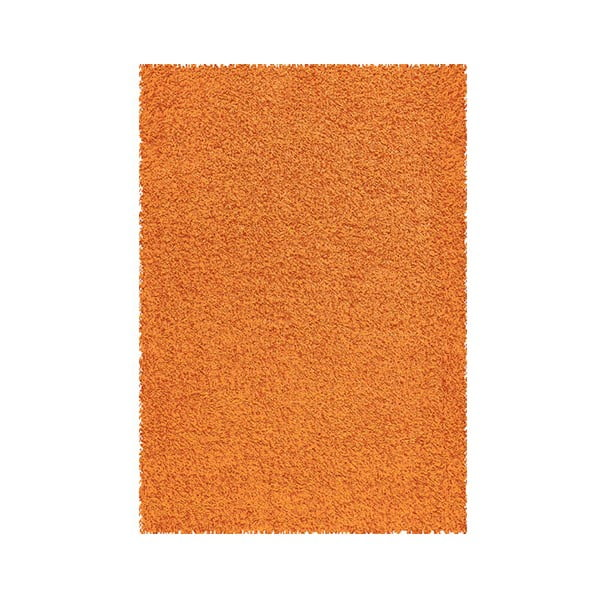 Koberec Shaggy 80x150 cm s 3 cm dlouhým vlasem, oranžový