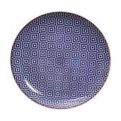 Farfurie Tokyo Design Studio Geo Eclectic, 25,7 cm, albastru