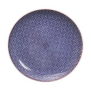 Modrý talíř Tokyo Design Studio Geo Eclectic, 25,7 cm