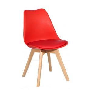 Červená židle Ixia Alvilda