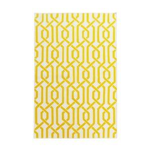 Žlutý vlněný koberec Bakero Camilla, 120x180cm