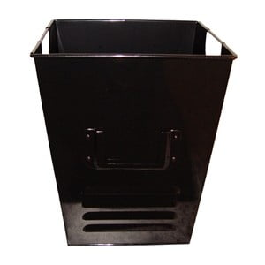 Plechový koš Waterquest 25x30 cm, černý
