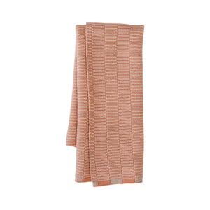 Korálově růžová kuchyňská utěrka z organické bavlny OYOY Stringa
