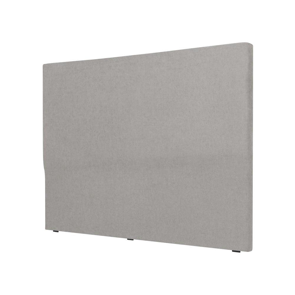 Světle šedé čelo postele Cosmopolitan design Naples, šířka 202 cm