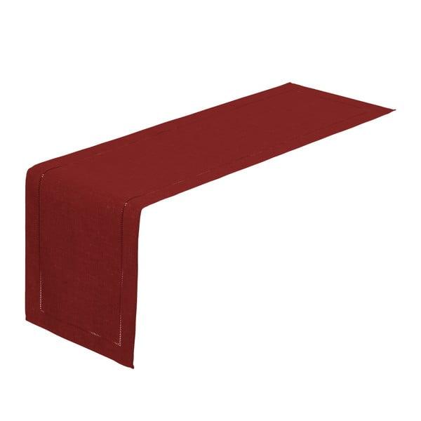 Karminowy bieżnik na stół Unimasa, 150x41 cm
