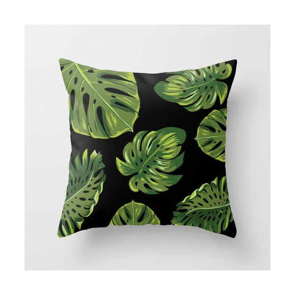 Povlak na polštář Palm Black, 45x45 cm