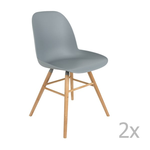 Sada 2 světle šedých židlí Zuiver Albert Kuip