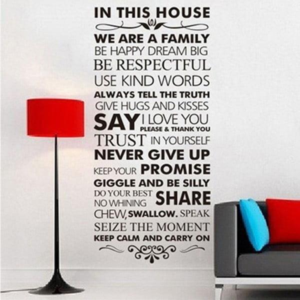 Dekorativní samolepka In This House, 56x120 cm