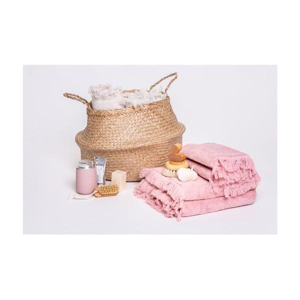 Sada 6 růžových ručníků a 2 osušek ze 100% bavlny Bonami