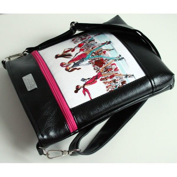 Kabelka přes rameno Dara bags Puzzle Ruby no. 50 I love Paris