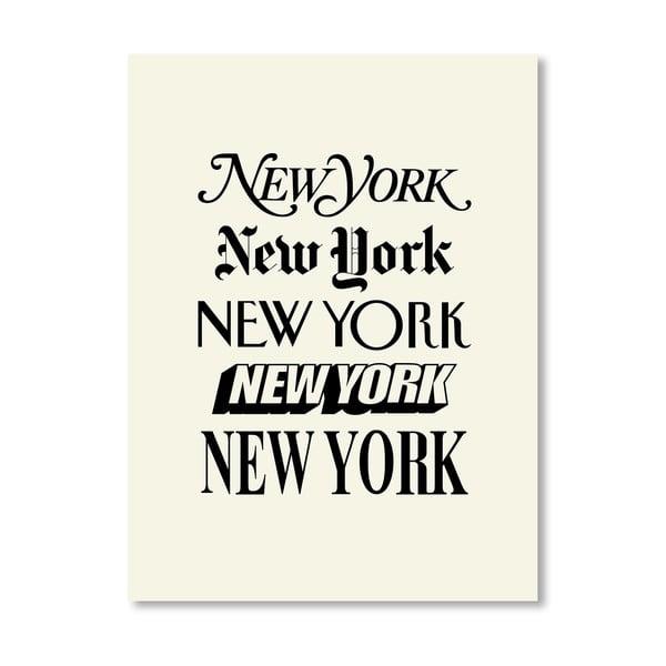 Plakát New York, 42x60 cm