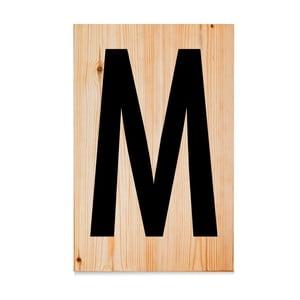 Dřevěná cedule Letters M