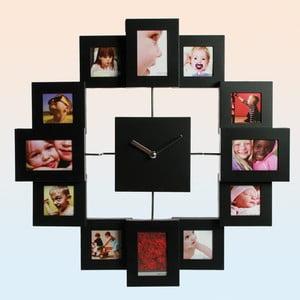 Nástěnné hodiny Family, černé