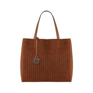 Hnědočervená kožená kabelka Beverly Hills Polo Club Paulee