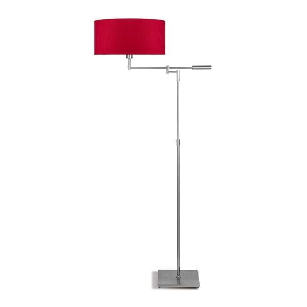 Šedá volně stojící lampa s červeným stínidlem Citylights Berlin