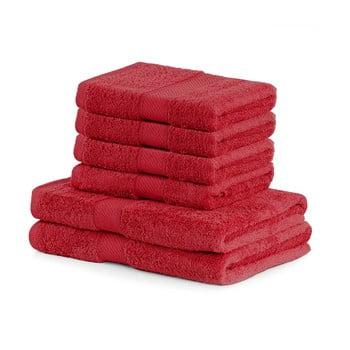 Set 6 prosoape DecoKing Bamby Red, roșu de la DecoKing