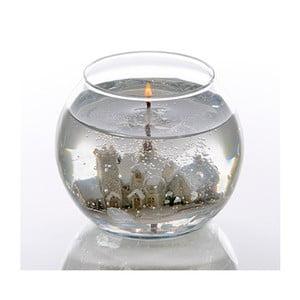 Kulatá Stoneglow svíčka Snowscene, 24 hodin hoření