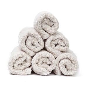 Sada 6 krémových ručníků Casa Di Bassi Guest, 30x50cm