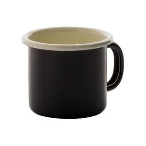 Černý smaltovaný hrnek na espresso Dexam, 170ml