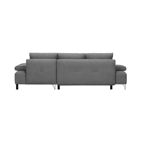 Světle šedá rohová rozkládací pohovka Windsor & Co Sofas Virgo, levý roh