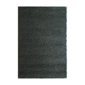 Vlněný koberec Dutch Carpets Loop Black Uni, 160x230cm