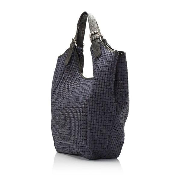 Modrá kožená kabelka Giulia Massari Nidia