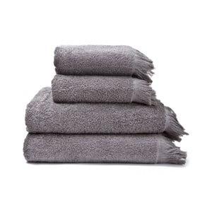 Sada 2 šedých ručníků a 2 osušek ze 100% bavlny Bonami, 50x90 + 70x140 cm
