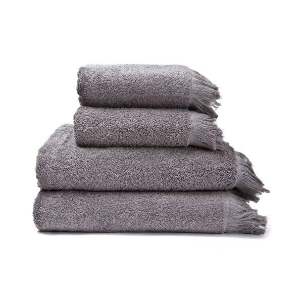 2-2 db 100% pamut szürke törölköző és fürdőlepedő, 50 x 90 + 70 x 140 cm - Bonami
