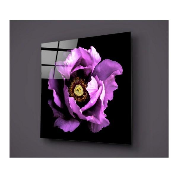 Czarno-różowy obraz szklany Insigne Rustenna, 40x40cm