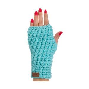 Tyrkysově modré ručně háčkované návleky DOKE Milo