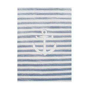 Modrý dětský koberec Happy Rugs Little Sailor, 120 x 180cm