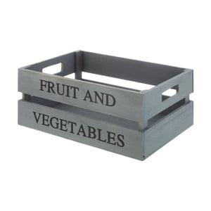Šedivý dřevěný úložný box Premier Housewares Tropical, 25 x 35 cm